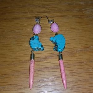 Jewelry - Pink and blue earring
